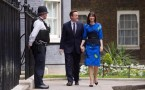 Britain's Prime Minister David Cameron and wife Samantha