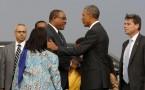 Ethiopia's Prime Minister Hailemariam Desalegn (center L) with U.S. President Barack Obama