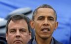 Governor Chris Christie and President Barack Obama