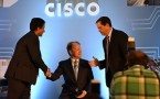 News Conference Of Cisco Chairman John Chambers In Delhi