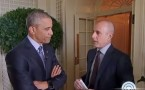 Screenshot of Obama and Matt Lauer
