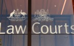 The outside of the Supreme Court of New South Wales building is seen in Sydney, Australia