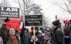 Pro-Life marchers participate in the 'March for Life.' Tens...