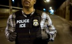 A U.S. Immigration and Customs Enforcement (ICE) agent