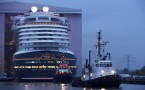 Disney Dream Cruise Ship Makes First Public Appearance In Shipyard In Germany