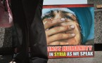Amnesty International Organizes Protest Against Syrian Government's Human Rights Abuses