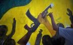 Graffiti Depicts Muammar Gaddafi Demise In Libya