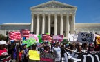 Pro-Immigration protest outside Supreme Court in Washington