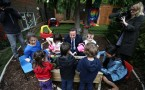 Prime Minister Meets Families At A Children's Nursery