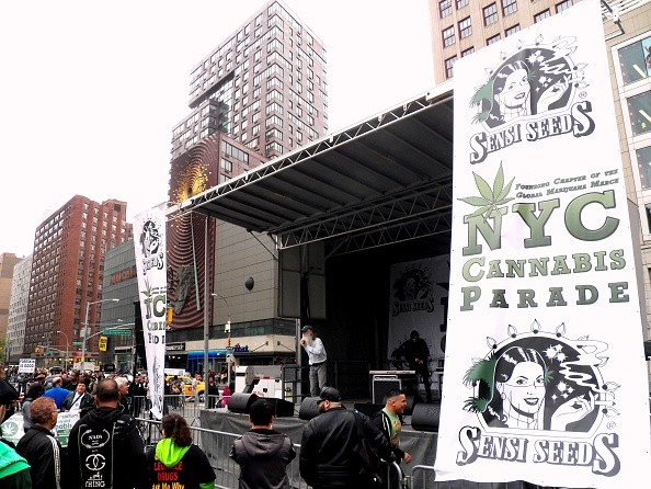 Over 400 people took part in the Cannabis parade and rally,...