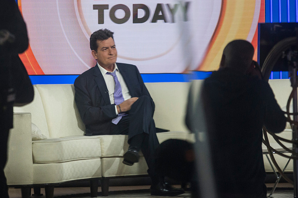 Actor Charlie Sheen Makes Announcement On Today Show During Interview With Matt Lauer