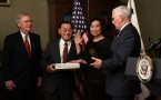 Elaine Chao was sworn in by Vice President Mike Pence as Secretary of Transportation.