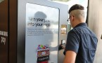 Consumers Use The Mobile Payment Service Samsung Pay At The Samsung Pay Vending Machine In Austin