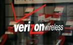 Verizon Wireless logo in one of its store in San Fransisco.