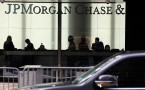 Signage of JPMorgan Chase & Co. in the bank's headquarter in Manhattan, New York City.