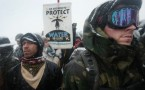 Military veterans protest against the Dakota Access Oil Pipeline
