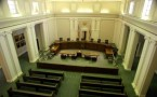 The interior of the Florida Supreme Court sits empty November 15, 2000 in Tallahassee, FL.