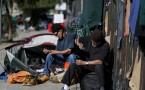 Homeless men.