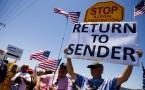 Murrieta Border Patrol Station anti-immigration rally