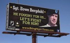A billboard calling for the release of U.S. Army Sergeant Bowe Bergdahl