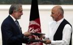 Afghan rival presidential candidates Abdullah Abdullah (L) and Ashraf Ghani