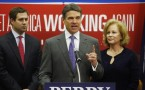 Texas Governor Rick Perry with wife and son