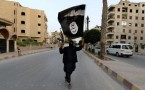 ISIL flag carried by a militant