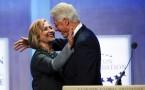 Former U.S. President Bill Clinton and former U.S. Secretary of State Hillary Clinton