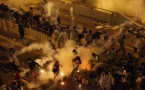 Riot police fire teargas in Hong Kong