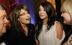 Bristol Palin with mother Sarah Palin, former governor of Alaska and 2008 VP candidate