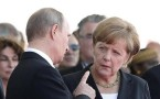 Russian President Vladimir Putin with German Chancellor Angela Merkel