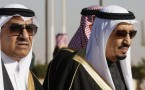 King Salman (R) and Crown Prince Mohammed bin Nayef (L)