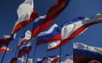Russian and Crimean flags
